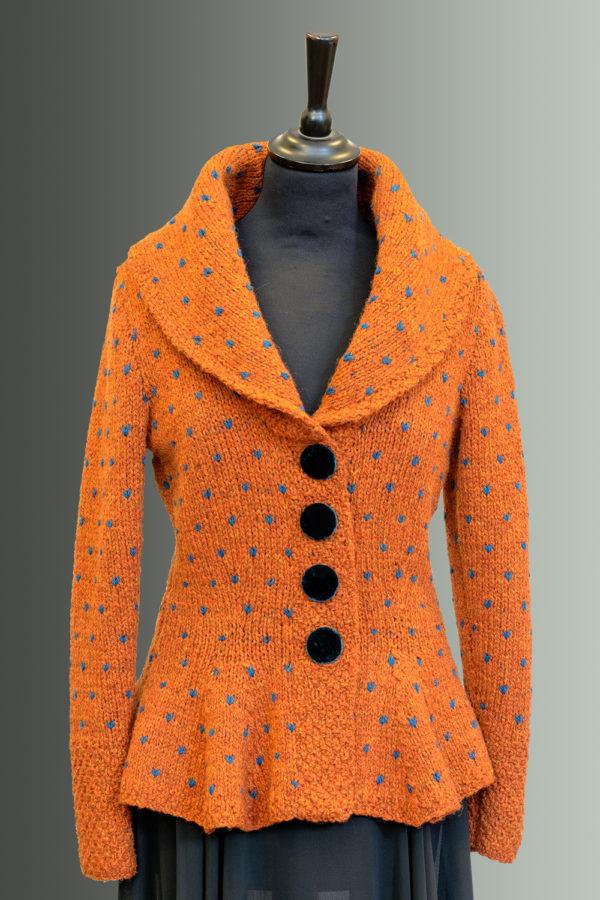 Kathrens Rare Knitwear Rita Hand Knit (orange) - front