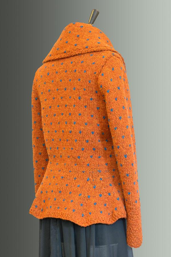 Kathrens Rare Knitwear Rita Hand Knit (orange) - back