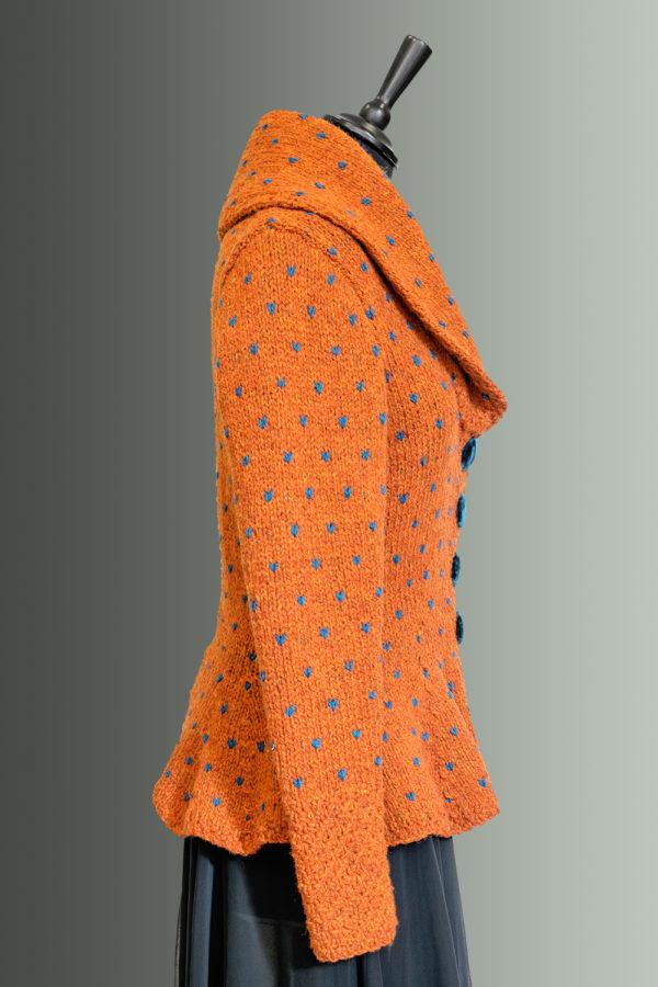 Kathrens Rare Knitwear Rita Hand Knit (orange) - side