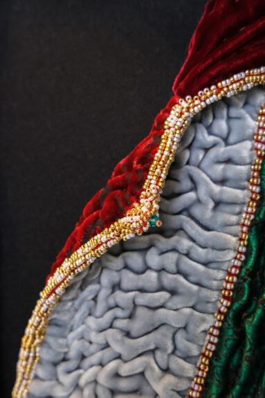Kathrens Rare Knitwear one-off coat - collar detail 4