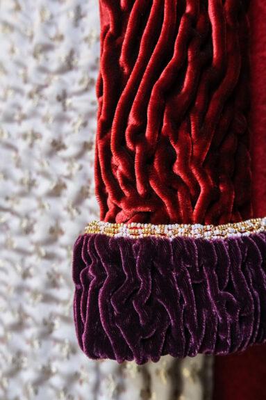 Kathrens Rare Knitwear one-off coat - cuff detail