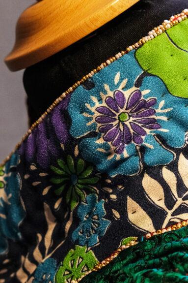 Kathrens Rare Knitwear one-off coat - collar reverse