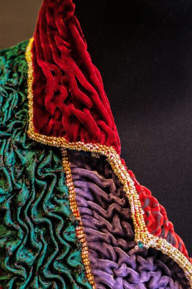 Kathrens Rare Knitwear one-off coat - collar detail 3