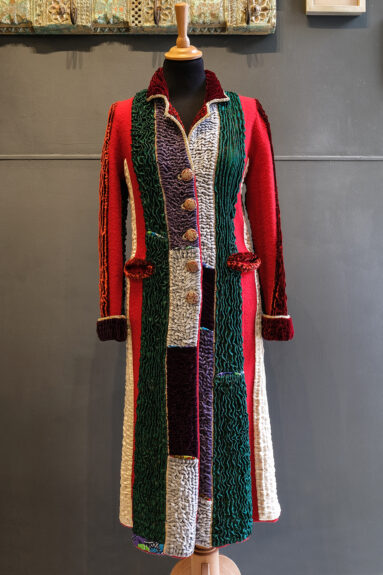 Kathrens Rare Knitwear one-off coat - front