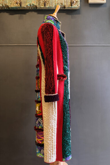 Kathrens Rare Knitwear one-off coat - side