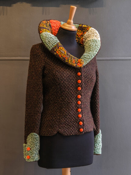 Kathrens Rare Knitwear one-off jacket #1 - front angle